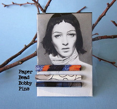 Bobby Pins - Paper Beads (Wendylynn58) Tags: diy handcrafted hairpin bobbypin hairaccessory papercrafting paperbead