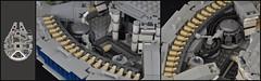 Millennium Falcon - Interior (Engine Bay) (Inthert) Tags: scale star bay mod ship lego interior engine millennium system solo falcon wars han chewbacca 4504 moc