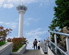 Tower at the Top of the Stairs (Mondmann) Tags: busantower busan pusan korea southkorea rok republicofkorea asia eastasia stairs tower landmark mondmann canonpowershotg7x