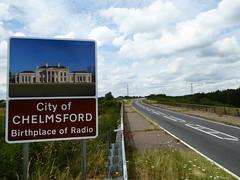 Chelmsford Sign (Essex Explorer) Tags: essex battlesbridge rivercrouch p1090099 a1245 chelmsfordsign