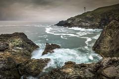 Trevose Head Lighthouse (Camera_Shy.) Tags: atlantic trevose head lighthouse cornwall seascape waves sky landscape rocks coast coastline long exposure drama atmosphere