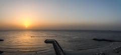 Sunset (Emi.R.) Tags: sun summer beach ocean sunset travel gulf sky landscape ajman uae shore sea panorama