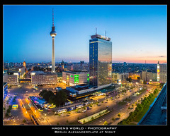 Berlin Alexanderplatz at Night (Hagens_world) Tags: alemania berlin deutschland europa germany grosformat hauptstadt panorama repblicafederaldealemania capital mitte canon canoneos5dmarkiii deu berlinerfernsehturm ddr daytime gdr himmel landscape landschaft nacht natur nature night sky tageszeit torre cielo dark dunkel natura noche paisaje televisiontower torredetelevisin