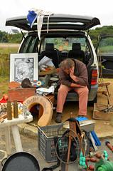 Zzzzzz........ (alderney boy) Tags: brittany finistre videgrenier carbootsale brocantes portblanc sleeper snooze seller bricbrac