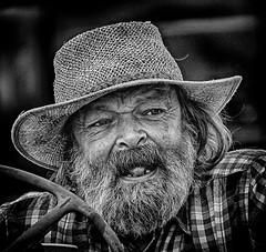 Man of Dorset - at the Fair (Andy J Newman) Tags: tarranthinton england unitedkingdom gb candid street portrait blackandwhite bandw bw hdr hdrefex silverefex nikon d500 man old beard teeth toothless wrinkle dorset gdsf