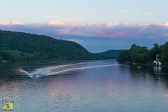 Sunset Ride (MNixonPhoto) Tags: newhope pa pen canal sunset green water summer algae pennsylvania