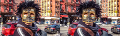 DSCF1161 (Mondo Circus Imaging) Tags: 3d stereoscopic stereographic stereogram streetphotography portrait portraits newyork les lowereastside brooklyn hair mask