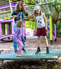Day 254, 2016, a photo a day. (lizzieisdizzy) Tags: howiemarsh outdoors outside openair funpark children jumping fun bouncing happy smiling laughing springs board springboard jump enjoy enjoying enjoyment relaxing