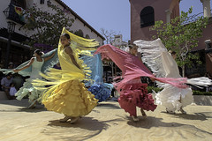 Swirling Colors (dcnelson1898) Tags: santabarbara california centralcoast coast 2016oldfiestadays dancing flamenco girls costumes ethnic spanish dress festival spiritoffiesta