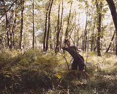 Invading Nature (jonathanchap) Tags: fineart conceptual woods nature trees green selfportrait