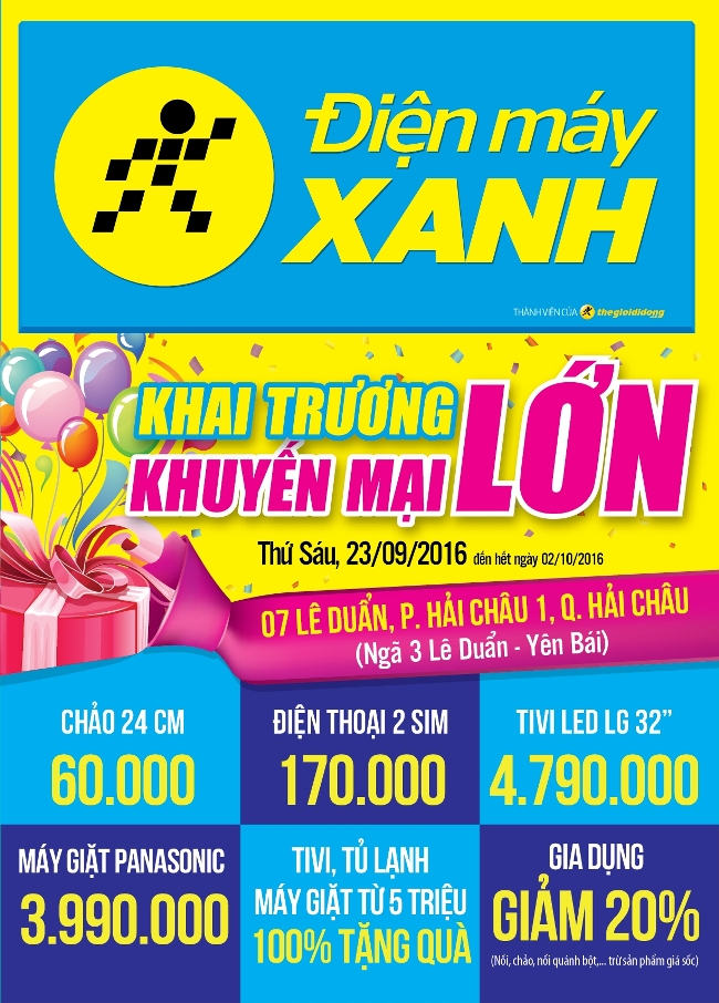 Khai trương siêu thị Điện máy XANH Lê Duẩn, Đà Nẵng