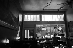 Burger Joint (pantagrapher) Tags: seattle phinney ridge bw red mill burgers ricoh grii