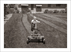 Fashion 0281-12 - Get It Right One Day (Steve Given) Tags: familyhistory socialhistory fashion boy child kids mower training