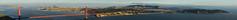 hawk hill sunset panorama ll (pbo31) Tags: california nikon d810 bayarea august 2016 summer boury pbo31 color northerncalifornia sanfrancisco panoramic large stitched panorama goldengatenationalrecreationarea marincounty northbay goldengatebridge 101 bridge over view skyline hawkhill pacific ocean vista sutro fog landsend bay