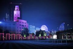Spotlight A (Blue HazeG) Tags: yokohama kanagawa japan canon 6d ohsanbashi 50mm12 50mm city cityscape night blue