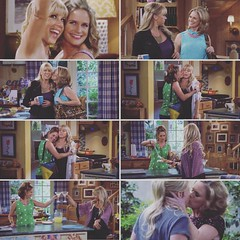 Sister, wife or wife, sister!?!? I love it!  #jodiesweetin #stephanietanner #kimmygibbler #andreabarber #fullerhouse #fullhouse #fullerhousenetflix #fullerhousenetflix #comedy #sister #wife @jodiesweetin @andreabarber :ki (Jodie Sweetin Brasil) Tags: instagramapp square squareformat iphoneography uploaded:by=instagram gingham stephanie tanner kimmy gibbler kisses sister wife fuller house jodie sweetin andrea barber