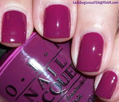 OPI Get Cherried Away (ladybuglexus724) Tags: purple nail polish lacquer pink red holographic opi orly china glaze revlon finger paints