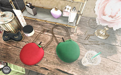 ::C'est la vie !:: 🍎Apple Bag🍏 for Fifty Linden Fridays (Larcoco ::C'est la vie!::) Tags: fiftylindenfridays cestlavie mesh apple bag secondlife larcoco