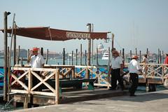 Gondola for Hire (SLANEY58) Tags: gondolier italy people venice veneto ita
