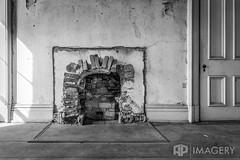 Fireplace (AP Imagery) Tags: fireplace community historic hardinsburg ky days door joseph historical holt abandoned house judge bricks blackandwhite bw kentucky monochrome room usa