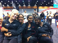 "Amber, Grace, Emma, Anna and Nicky at the Asics expo • <a style=""font-size:0.8em;"" href=""https://www.flickr.com/photos/64883702@N04/7499533316/"" target=""_blank"">View on Flickr</a>"