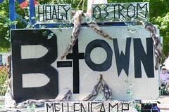 Elevating Ostrom (kmakice) Tags: summer holiday indiana parade fourthofjuly bloomington floats cherished elinorostrom