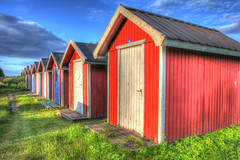 Swedish fishermen's huts (Stephen Braund) Tags: hdr fishermanshuts swecen elementsorganizer kivic