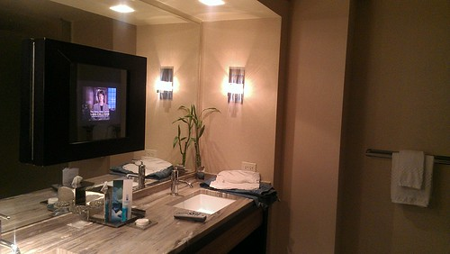 never had a TV in my bathroom.