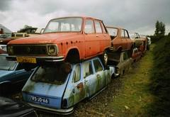 Junkyard Renault Holtrop in Oudehaske, NL 1998 (Renault 6 duo) (Fuego 81) Tags: 6 9 renault 12 fuego cwodlp 75jd66 nd41vv