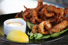A Calamari Lunch at Doris Day's Cypress Inn (rivadock4) Tags: animal inn day squid carmel friendly cypress doris calamari dorisday cypressinn animalfriendly