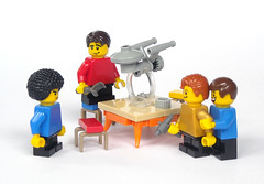 Fascinating! (mijasper) Tags: startrek bench table lego furniture interior minifig minifigs stool enterprise moc nanoscale microscale tablescrap