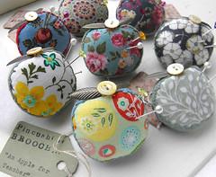 Apple for Teacher Pincushion Brooches (Wychbury Designs) Tags: school apple miniature pin brooch teacher needle gift pincushion wearable