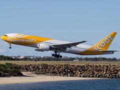 Scoot 777-200 9V-OTC (Brett A Williamson) Tags: airplane aircraft sony australia mascot newsouthwales boeing alpha takeoff 777 scoot sydneyairport singaporeairlines yssy 777200 sonyalphadslr sal70400g slta35 9votc