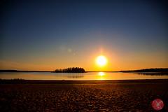 One of the many sunsets at Elk Island (Kasia Sokulska (KasiaBasic)) Tags: park sunset sky lake canada landscape island national alberta elkisland astotin