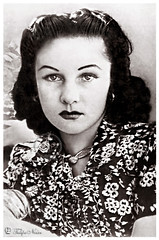 HIM Empress Fawzia Of Iran [B] - Tehran In 1945 (Tulipe Noire) Tags: africa portrait egypt middleeast persia 1940s egyptian empress tehran reza 1945 mohamed shah pahlavi fawzia