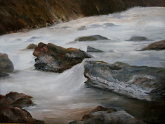 Rushing River -oil