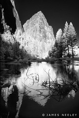 Changing Channels (James Neeley) Tags: ir yosemite infrared yosemitenationalpark mercedriver cathedralgroup jamesneeley