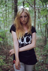 * (laumel) Tags: portrait woman film girl forest olympus om om1 lithuania olympusom1 lietuva juosta
