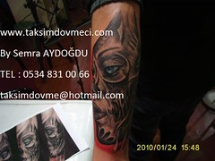 Woman robotic face tattoo / Robotik bayan yz dvme (taksim beyolu dvmeci) Tags: woman art tattoo artist femme models drawings istanbul tattoos taksim examples vrouwen tatouage bayan mannen kiz modle modelleri dovme izimler dovmeciler taksimdovme dovmemodelleri dovmesi