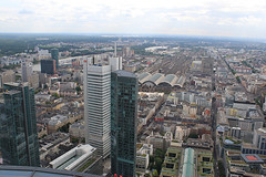 and once more- from the top (Marlis1) Tags: skyscrapers frankfurt birdseyeview highrises marlis1 rheinkreuzfahrt