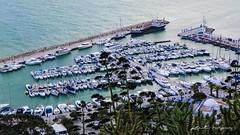 Le port du plaisance (dominiquekt) Tags: sunset port de soleil tunis coucher dominique khaled carthage tunisie lever drapeau sidi plaisance sunrie mosaiques bousaid kassbah touel