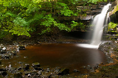 Gibsons Cave & Pool (Lakeland-Photographs) Tags: water canon river eos waterfall tees highforce teesdale lowforce bowlees 400d