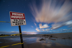 Private Property (vincenzzo) Tags: longexposure beach night wasaga privateproperty vincenzzo copyrightvincegiovinazzo2012