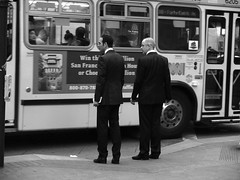 Commute (sirgious) Tags: sanfrancisco bw financialdistrict commute