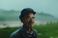 农夫 [Nong Fu] (Jeremy Snell) Tags: china portrait green hat rural chinese fu farmer nong zhangjiakou guyuan nongfu 5dmkiii