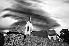 Cloudy Church (fs999) Tags: blackandwhite bw church paintshop blackwhite long exposure noiretblanc pentax kirche nb special iso exposition filter nd paintshoppro uga fx limited effect glise belichtung 1000 k5 corel noirblanc treatment multiexposure lange filtre aficionados pentaxist effet uwa artcafe longue spcial ultrawideangle traitement multiexposition blackwhitephotos 80iso nd1000 topazlabs vuedenbas pentaxian elitephotography ashotadayorso justpentax topqualityimage zinzins ultragrandangle flickrlovers dalimited topqualityimageonly fs999 pentaxart da15 pentaxda15mmf4edallimited pentaxk5 bwfx paintshopprox4ultimate x4ultimate multibelichtung