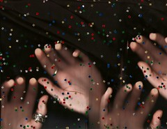 (kameron elisabeth) Tags: hands scanner confetti scannerphotography scanography