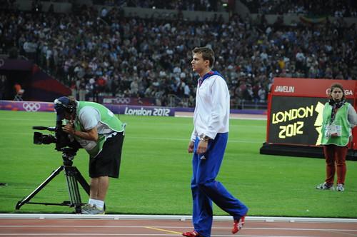 Christophe Lemaitre lors du 4x100m des JO de Londres