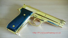 Gold Plated Beretta e (PureGoldPlating) Tags: goldplated goldplating explosivedevices goldguns goldplatedfirearms goldplatedgrenades goldexplosives goldplatedweapons