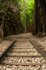 Hellfire Pass: Pray for Peace on August 15 (thai-on) Tags: railroad nature thailand nikon war peace pray kanchanaburi d3 railbed totallythailand